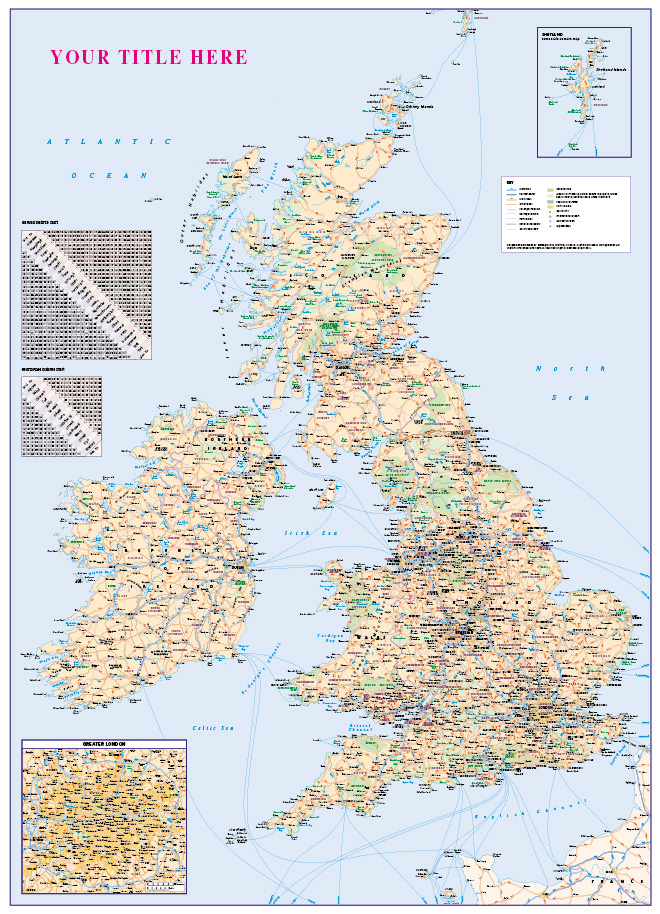 Personalised GB Map with Greater London inset
