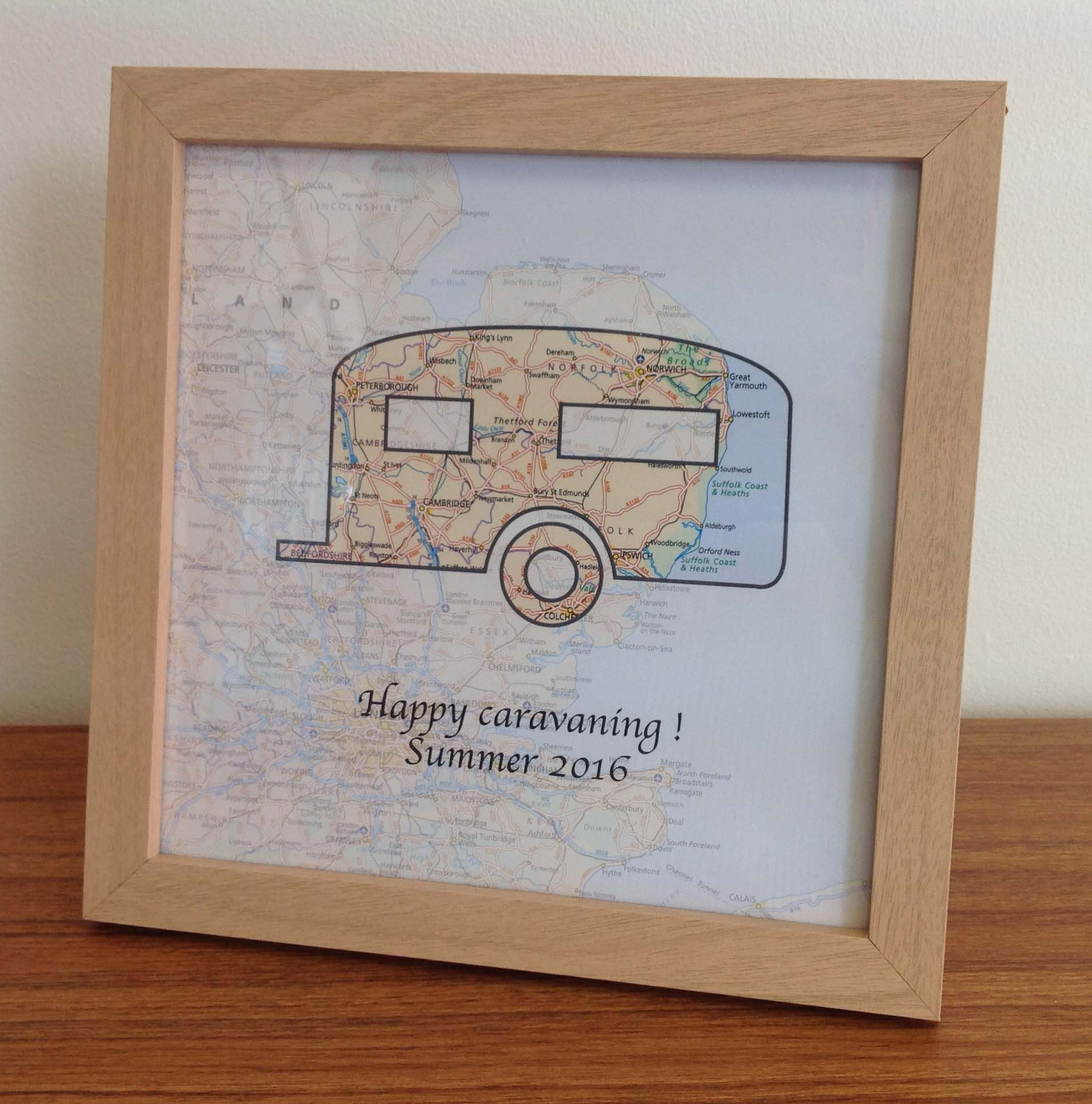 Personalised map gift - Events and Festivals (free delivery)