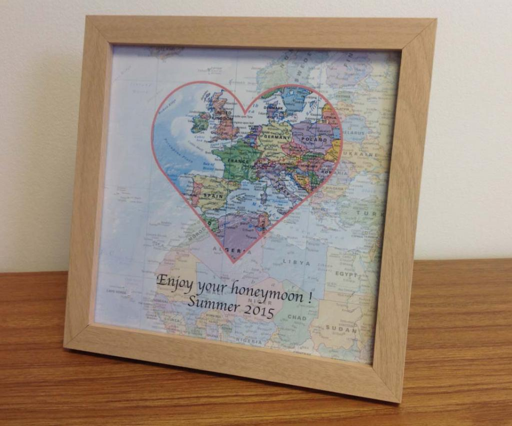 Personalised map gift ideas