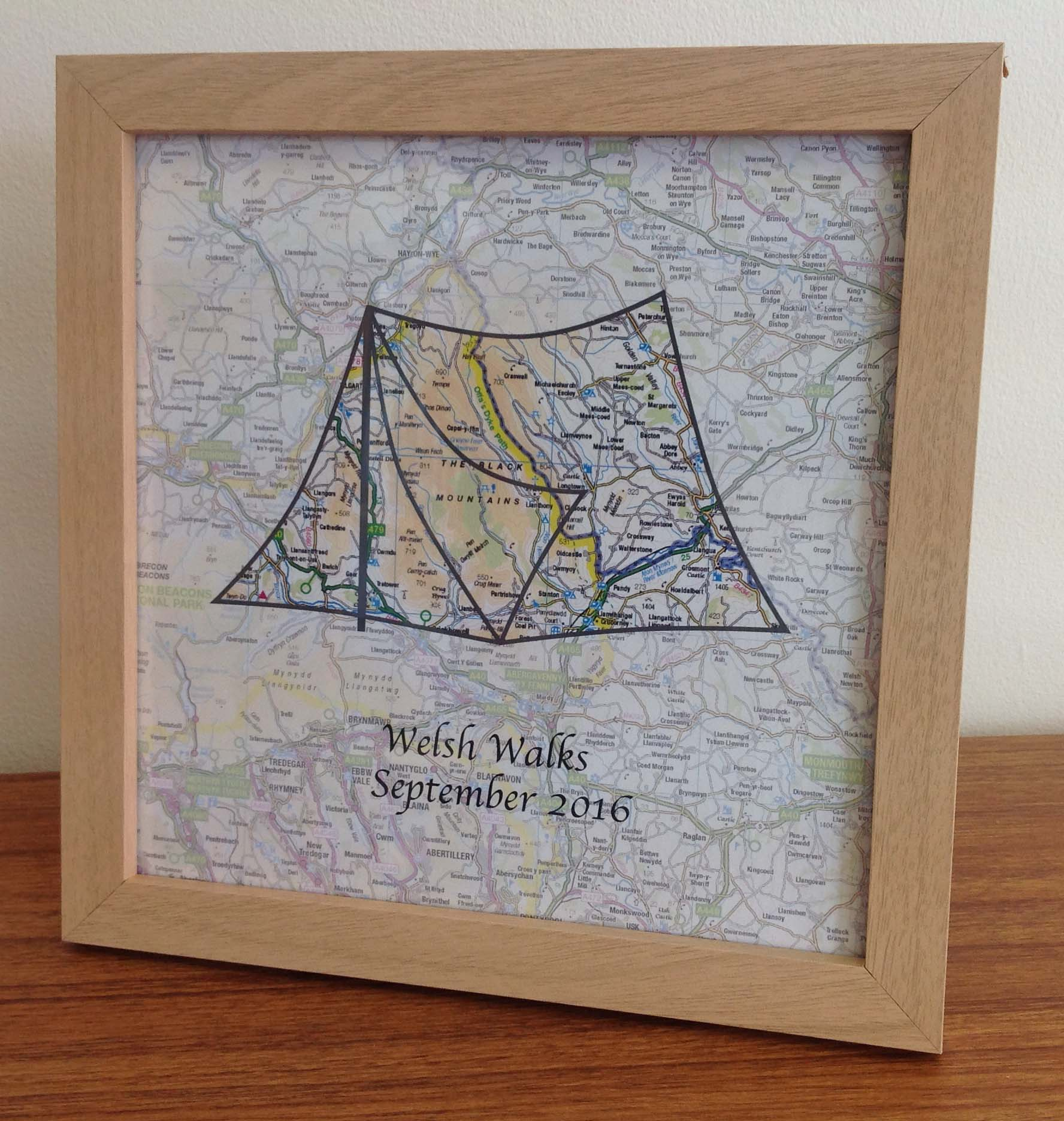 Personalised map - UK Adventures (free delivery)
