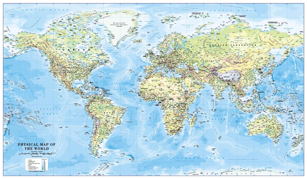 World Physical Map Scale 1:30 million