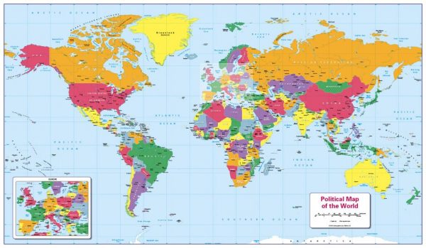Children's Political map of the World