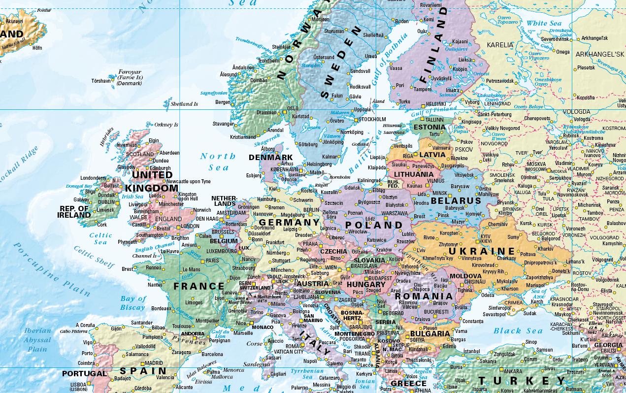 Political World Map 1:30 million