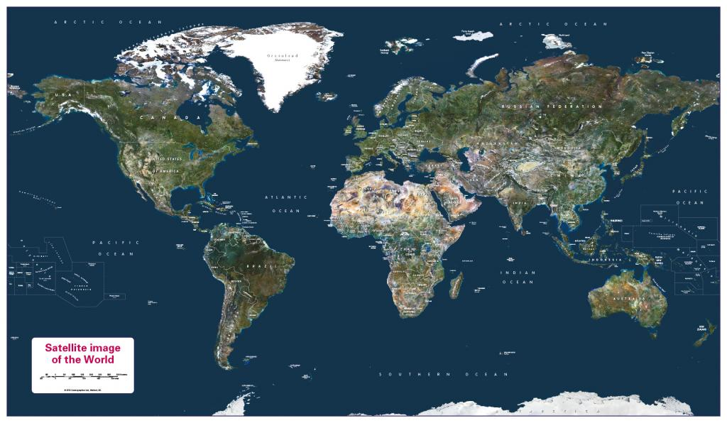 Satellite map of the World (large)