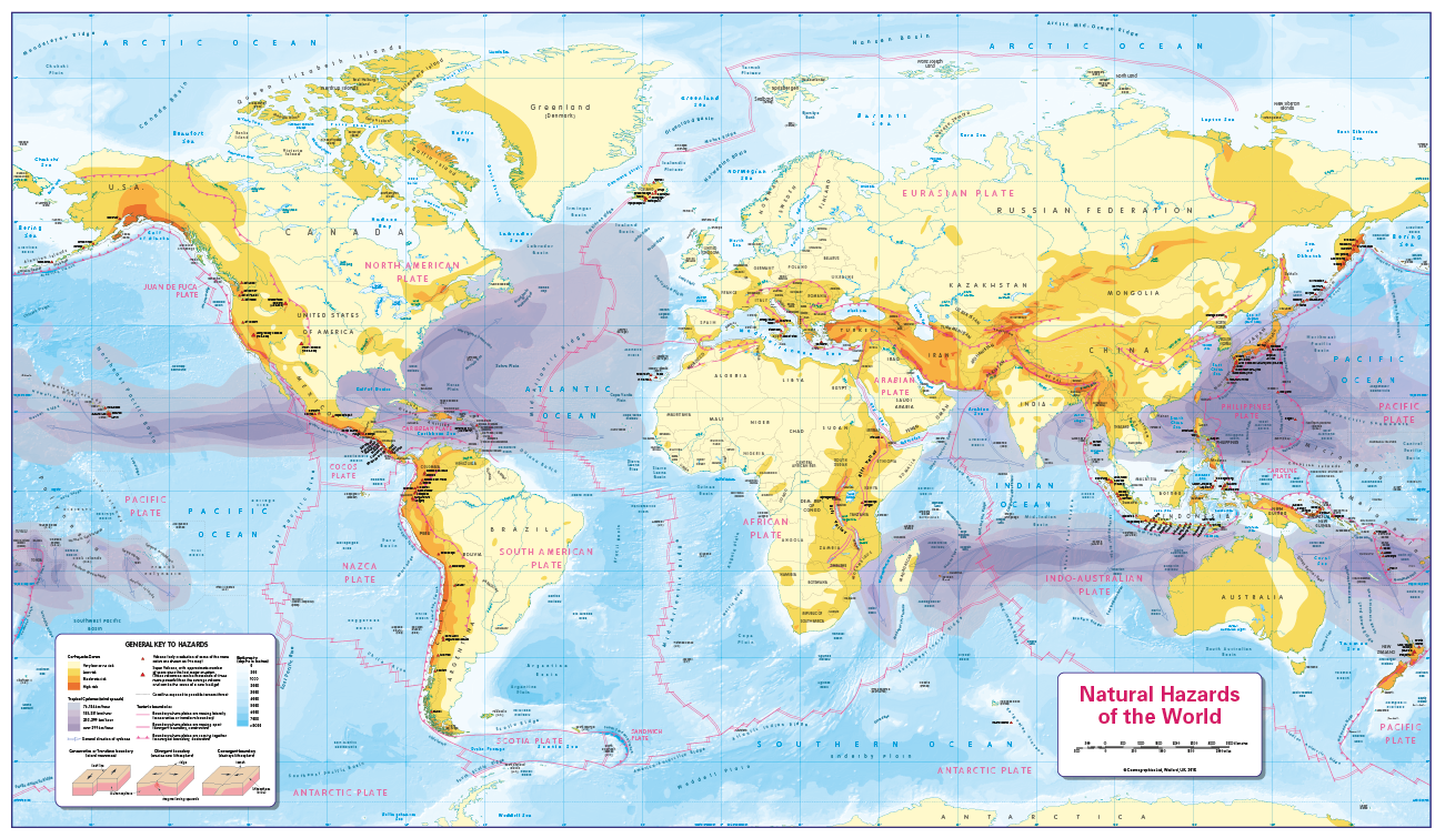 Set of 3 children's World maps - small