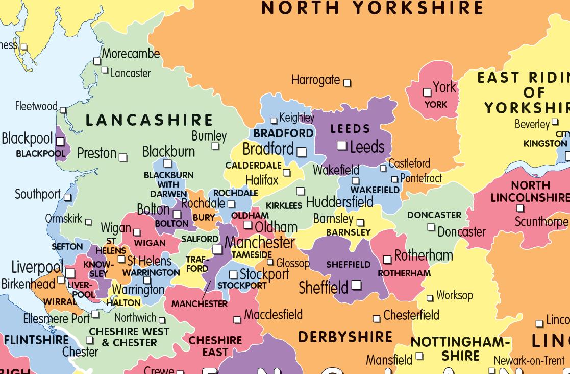 Set of 4 Children's UK maps