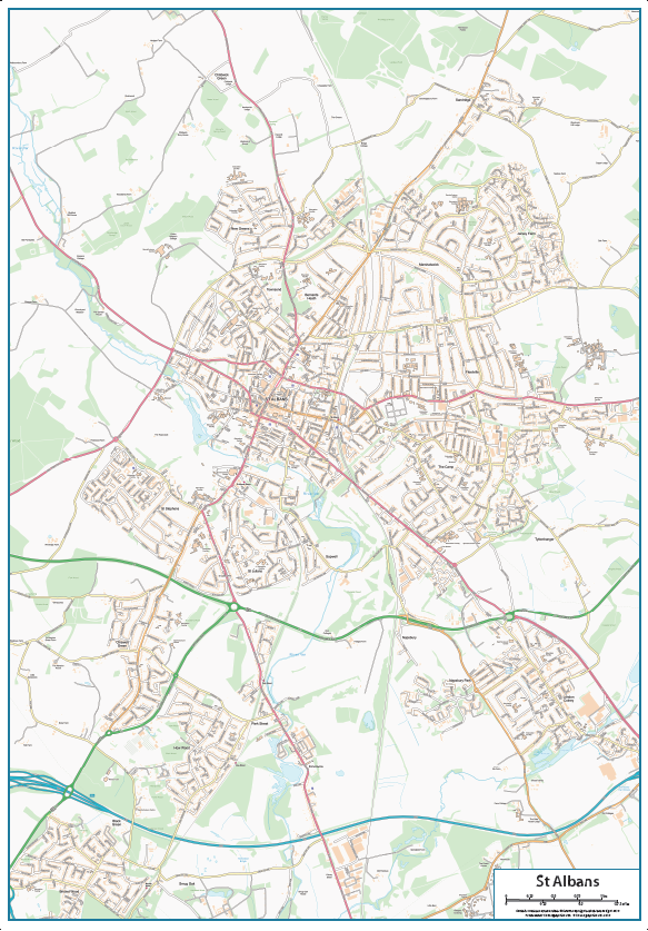 St Albans Street map