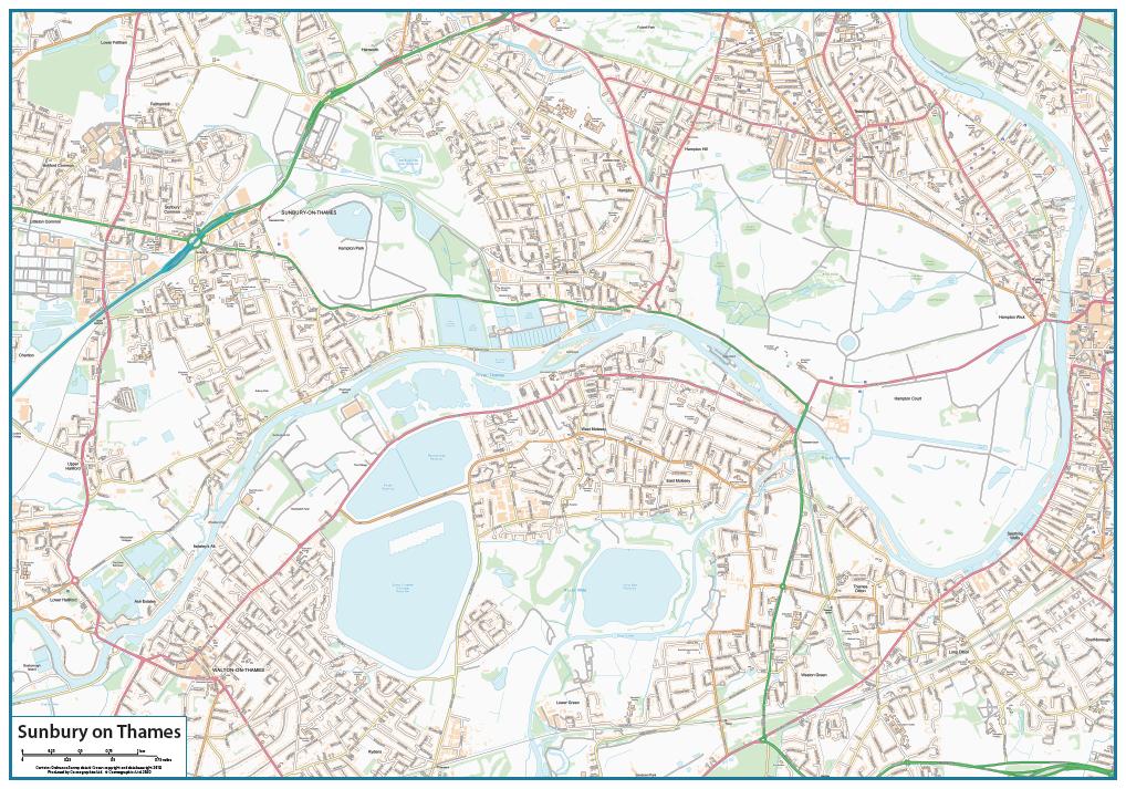 Sunbury on Thames map