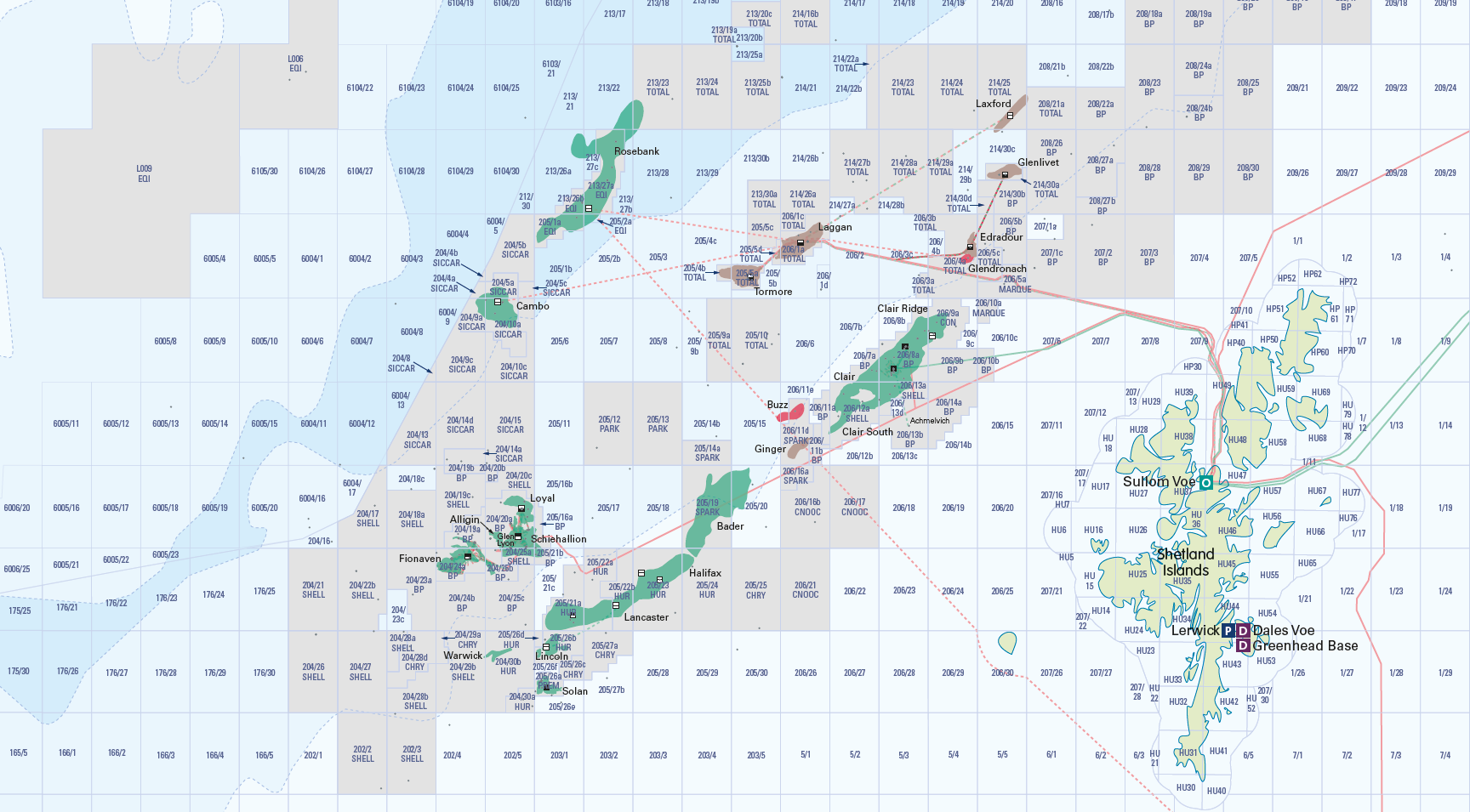 The North Sea Oil and Gas Activity Map - Personalised