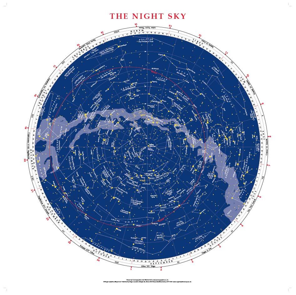Personalised Night Sky map (75cm x 75cm)