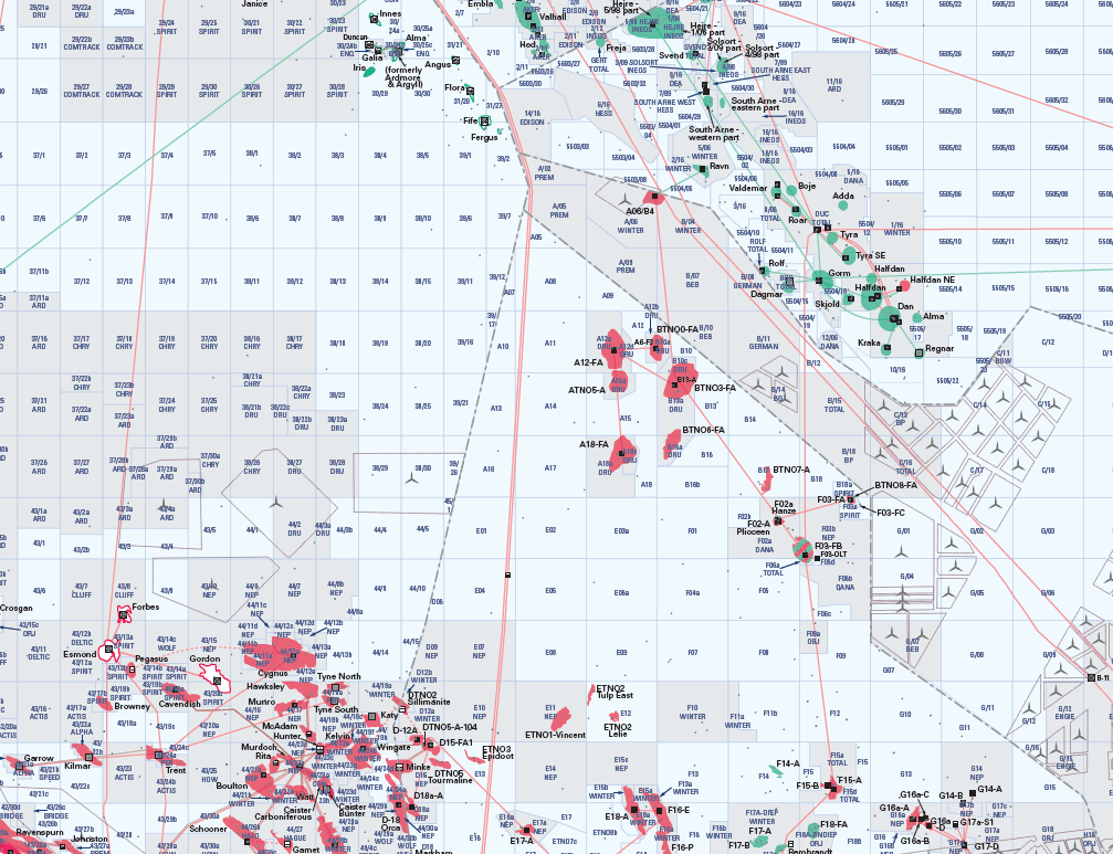 The North Sea Oil and Gas Activity Map - Boardroom Edition