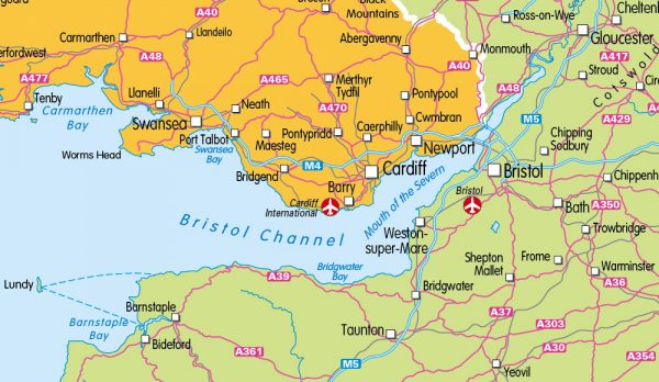 Children's Travel map of the United Kingdom