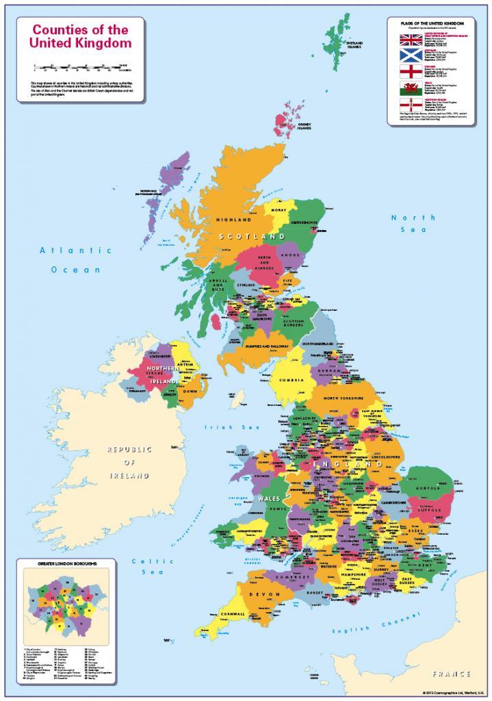 Personalised Children's UK Counties Map