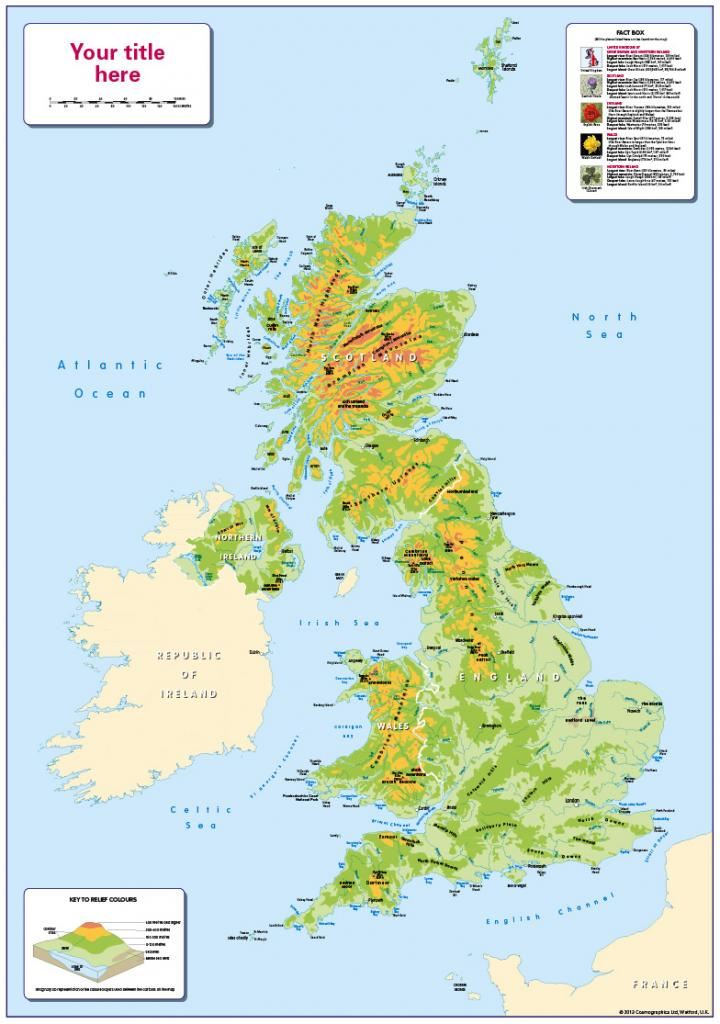 Personalised children's UK Physical Map