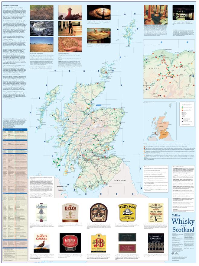 Whiskey Scotland map