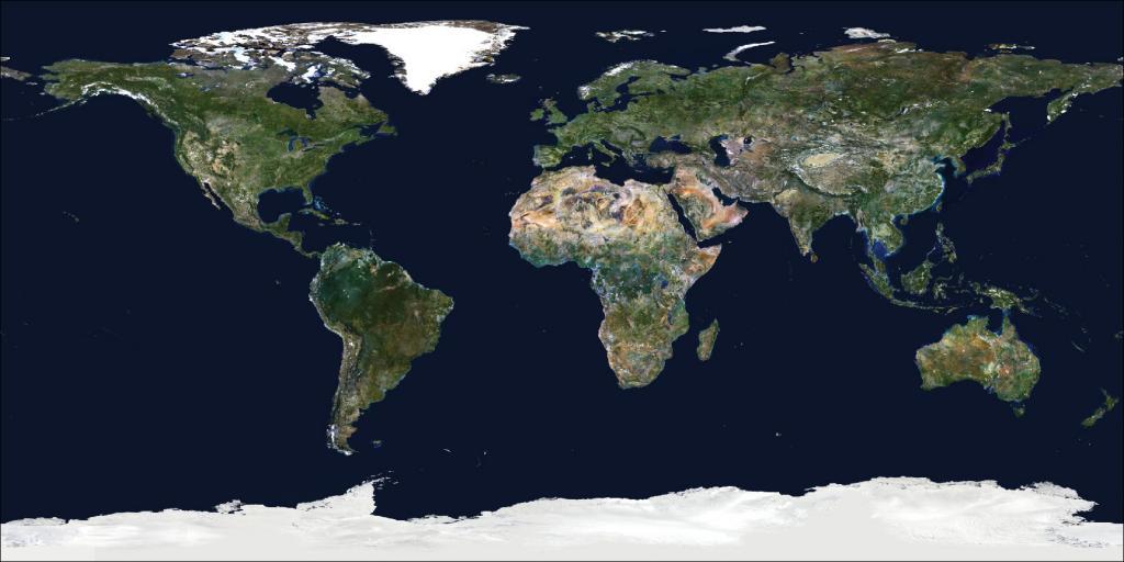 Satellite image of the World