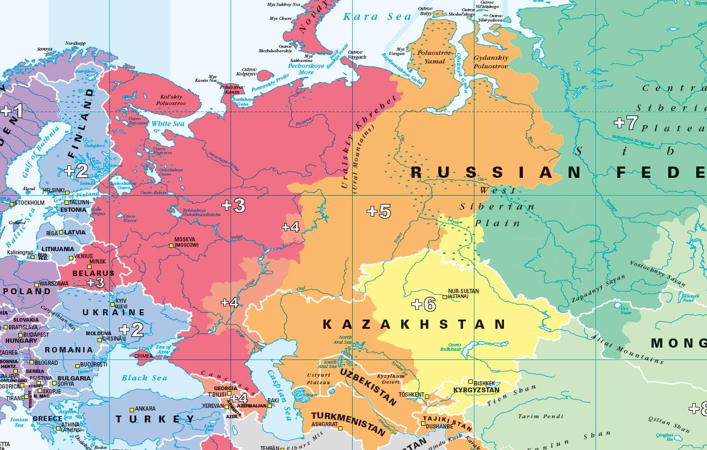 World Timezones Map - colour blind friendly
